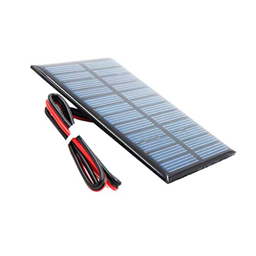 D DOLITY Mini DIY Solarpanel Solarmodul Solarzelle Polykristalline für Handy Spielzeug - D 5V 60x90mm