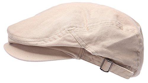 Homme Coton Cabbie Vendeur de journaux Gatsby Casquette pour des Homme Lierre Chapeau Le Golf Conduire Sun Flat Beige