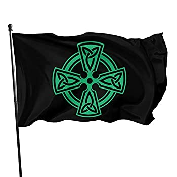 IOHAGA Celtic Cross Knot Irish Shield Warrior 3x5 Foot Flags Outdoor 3x5 Ft Flag Best Military Flag is Not Damaged Durable