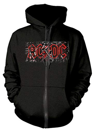 AC/DC 'PWR UP Cables' (Black) Zip Up Hoodie (Large)