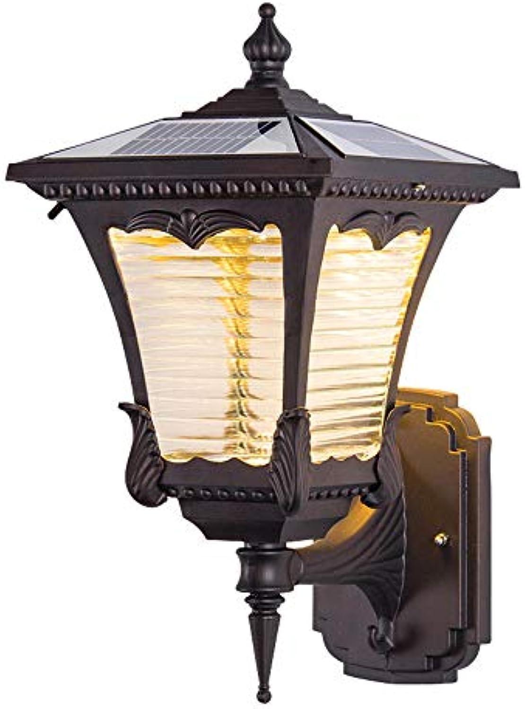 CYL Solar-Outdoor-Wandleuchte LED Wasserdicht Garten Lampe Villa Tür Spalte Wandleuchte Geschmiedet Aluminium 3W Gang Korridor Garten