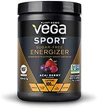 Vega Sport Sugar Free Energizer, Acai Berry - Vegan Certified, Keto-Friendly, Gluten Free, Dairy Free, Soy Free, Non GMO, Natural Pre Workout Powder (35 Servings)