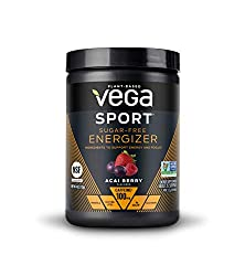 Vega Sport Sugar Free Energzier Acai Berry (35 Servings, 4.0 Ounce Tub) - Vegan, Keto-Friendly, Glut