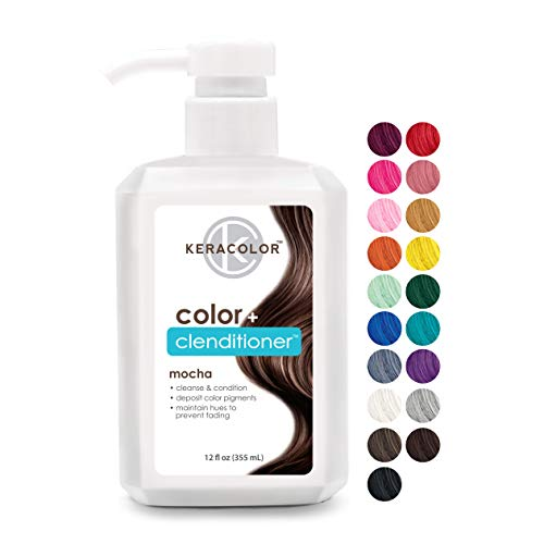 Keracolor Clenditioner Color Depositing Conditioner Colorwash, Mocha, 12 fl oz
