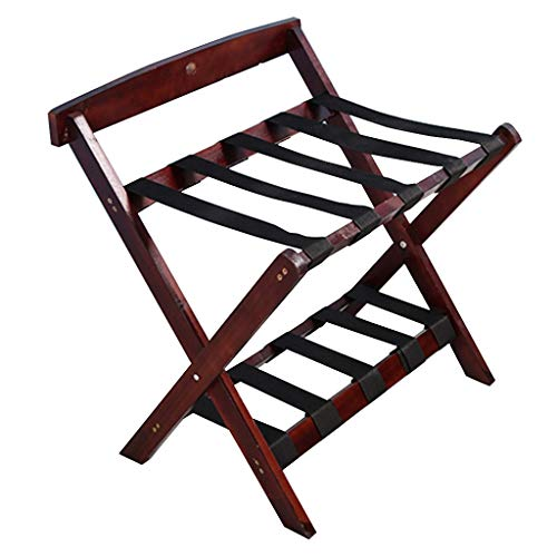 Find Discount Luggage Rack-Solid Wood Luggage Rack Hotel Home Folding Rack Luggage Compartment Shelf...