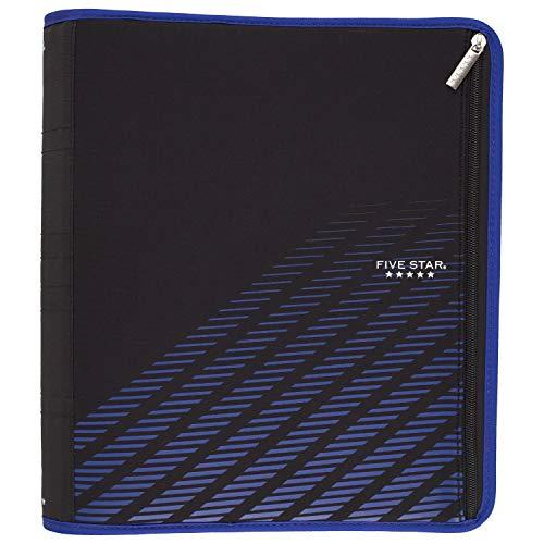 Five Star Zipper Binder, 2 Inch 3 Ring Binder, Xpanz, Blue Lines (29040HW9)