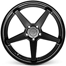 Ferrada Wheels FR3 20x10.5 Front & Rear et15 5x115 Matte Black / Gloss Black Lip C.B 73.1 / Charger Challenger Hellcat SRT8