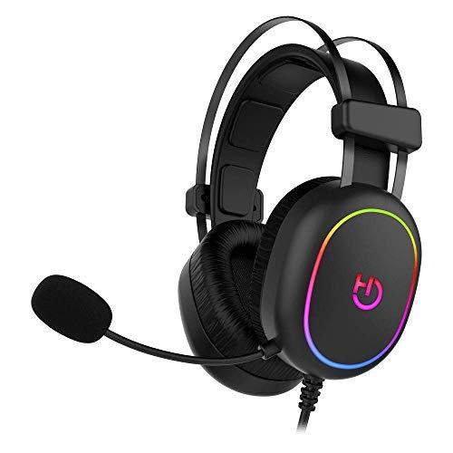 Hiditec   Auricular Gaming con Cable Sonido   Ultra cómodos   Foam con Efecto Memoria   Auricular Gaming Erys ARGB   Micrófono Integrado