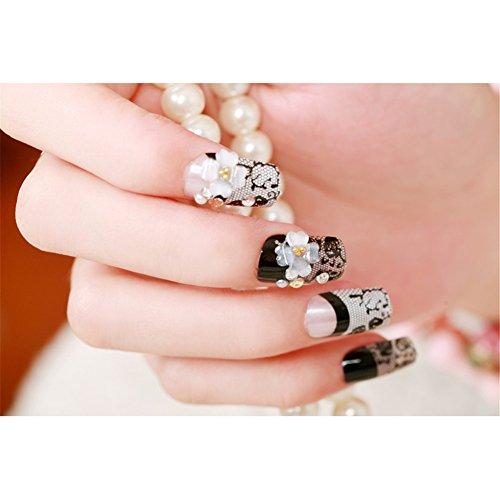 Molie 24PCS/Set Morceaux de mariée clou produit mode graver modèles ou dessins charmante personnalité de faux ongles patch