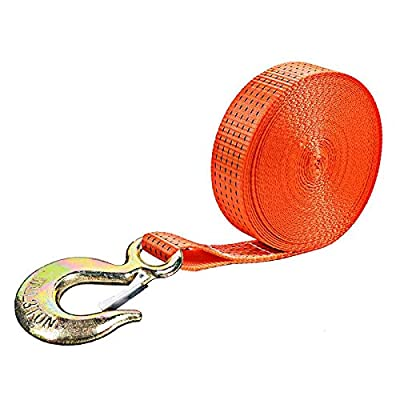 """Winch Straps, Heavy Duty Towing Straps with Hook and Loop for Boat, Trainler, Wave Runner, Fishing Jet Ski, Trucks,Towing Replacement Recovery Securing Rope Marine - 2"""" x 20', Break Strength 10000lbs"""