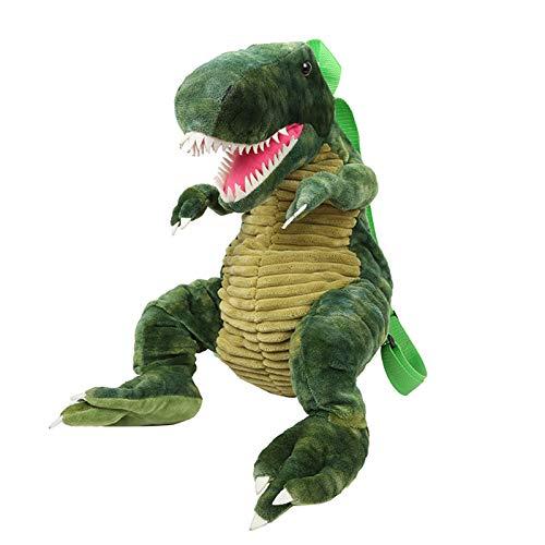 TOP&TOP Dinosauro Zainetto Peluche,verde Zaino per Bambini Dinosauro 3D Borse da Viaggio Animali Simpatico Cartone Animato per Ragazze dei Ragazzi per Bambini (verde)