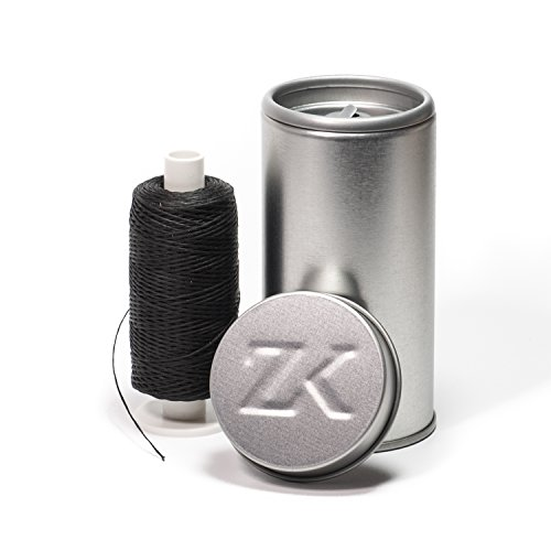 Zahnseidenkampagne Vegane Polyester-Bambus mit Aktivkohle Premium Zahnseide gewachst, schwarz (250m Spule + Spender)