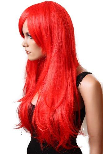 PRETTYSHOP Perruque complète unisexe regardant naturel lisse cheveux longs Cosplay Party