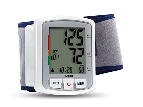 Health & Wellness BW4000 - Tensiómetro (Muñeca, Automático, Blanco, 2 usuario(s), 40-180, 13,5-21,5 cm)