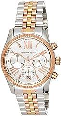Idea Regalo - Michael Kors Orologio Cronografo Quarzo Donna con Cinturino in Acciaio Inox MK5735