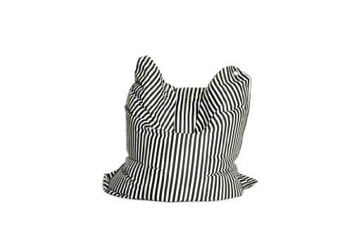 Sitting Bull Fashion Bull - Sitzsack - Black & White Qualtität mit Micro Pearls 190 x 130 cm