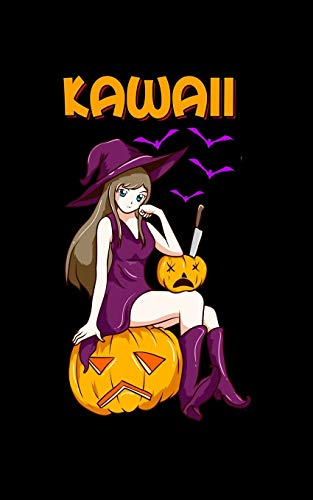 Kawaii: Kawaii Girl Halloween Anime Witch Waifu 2020 Pocket Sized Weekly Planner & Gratitude Journal (53 Pages, 5' x 8') - Blank Sections For Notes & ... - Small Fit For Purses, Backpacks & Pockets