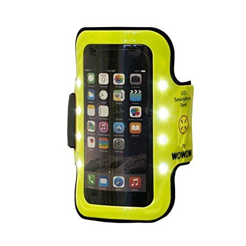 Brazalete Reflectante con Leds WOWW Armband 3.0 para Smartphone, Color Amarillo