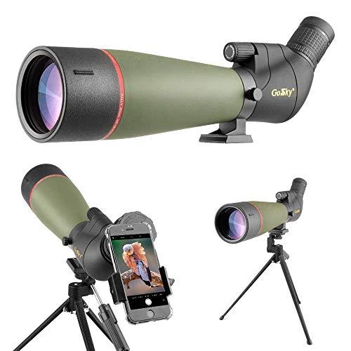 Gosky 2019 Spektiv Vogelbeobachtung 20-60 x 80 Porro Prism Spektiv für sportschützen - wasserdichtes Spektiv für das Schießen von Zielen Jagd Vogelbeobachtung Wildlife Scenery