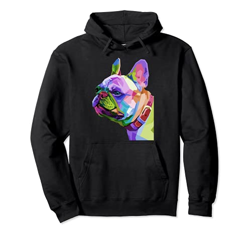 Frenchie French Bulldog Pop Art Portrait Bouledogue Pullover Hoodie