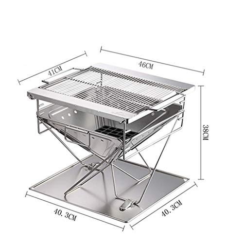 41sSIDlVX5L - LMM Metall Outdoor Grillzubehör, Folding Barbecue-Ofen Barbecue Licht Holzkohlegrilgrill Non Stick im Freien