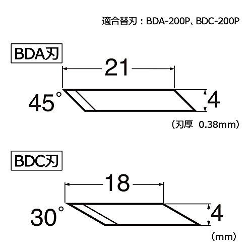 エヌティーデザインナイフエコ再生樹脂替刃付黒eD-400