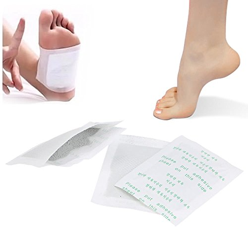 XiaoMall 10 Pakete Detox Fußpads Fußpflaster Entgiftung Giftstoffe Füße mit Klebefolie Fußgeruch Gesundheitsgerät