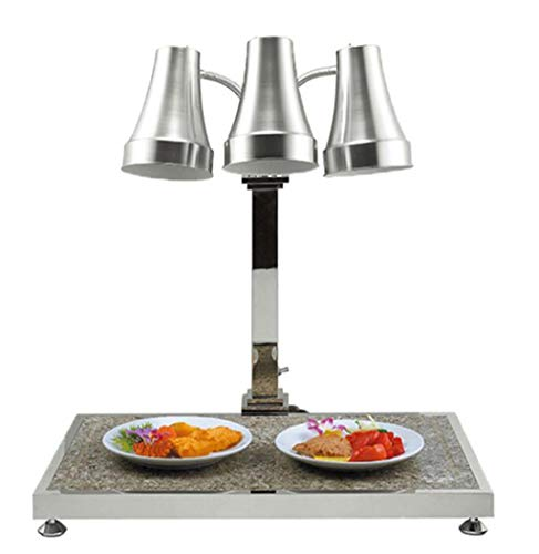 CXWJD warmhouder-lamp, marmer-isolatie, roestvrij staal, enkel/dubbel/drie koppen, warmte-opslag van de lamp, hotelbuffet/KTV/familiediner