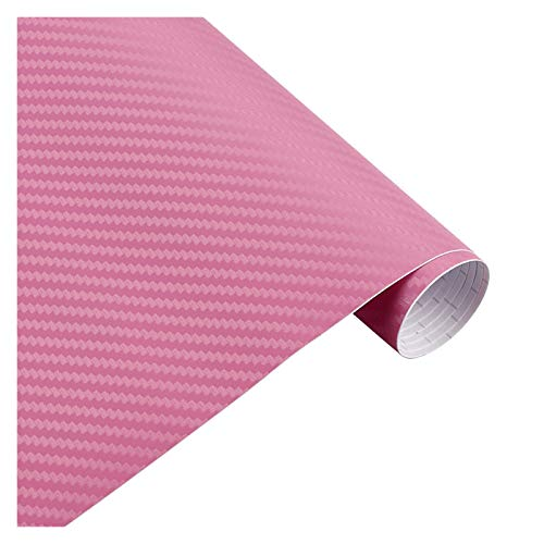 Carbon Folie 200cm * 30cm 3D-Carbon-Faser-Vinylfilm 3M Auto-Aufkleber wasserdichtes DIY Motorrad Automobil Car Styling-Verpackungs-Rollen Zubehör Folie Auto (Color Name : 3D pink)