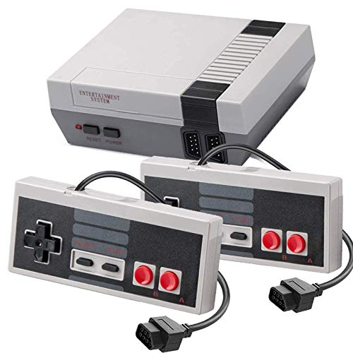 Classic Mini NES Retro Console, AV Output Game Console Built-in 620 Games with 2 Classic Controllers
