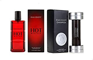 Hot Water by Davidoff Eau de Toilette 110ml With Champion by Davidoff Eau de Toilette 90ml for Men