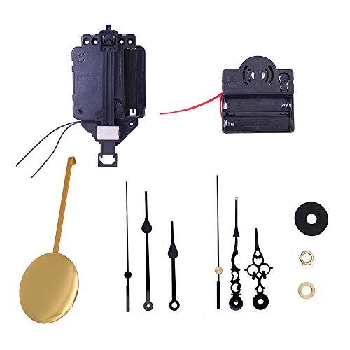 YChoice365 Kit de Movimiento de Mecanismo de Reloj de péndulo de Cuarzo, Caja de música de Timbre, Kit de Reloj, Juego de Reloj DIY, fácil de Instalar para el hogar