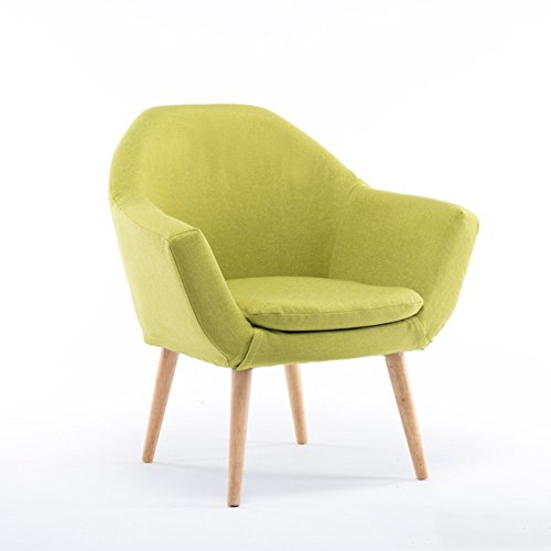H-ei Nordic Dining Stuhl Baumwolle und Leinen abnehmbare und waschbar Sofa Lounge Stuhl für Balkon Schlafzimmer Wohnzimmer (29.5 * 21.7 * 30,3 Zoll) (Color : Light Green)