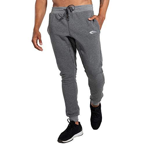 SMILODOX Jogginghose Open Mind   Trainingshose für Sport Fitness Gym Training & Freizeit   Sporthose - Jogger Pants - Sweatpants Hosen - Freizeithose Lang, Größe:XXXXL, Farbe:Anthrazit