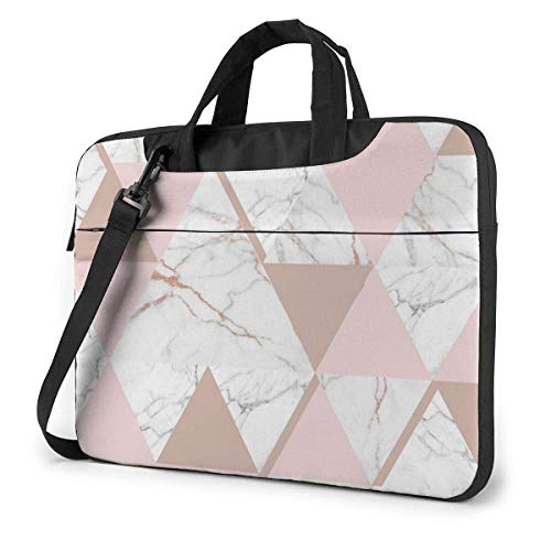 XCNGG Shockproof Laptop Bag Rose Gold Marble Computer Briefcase Durable Case Sleeve for PC Notebook Tablet