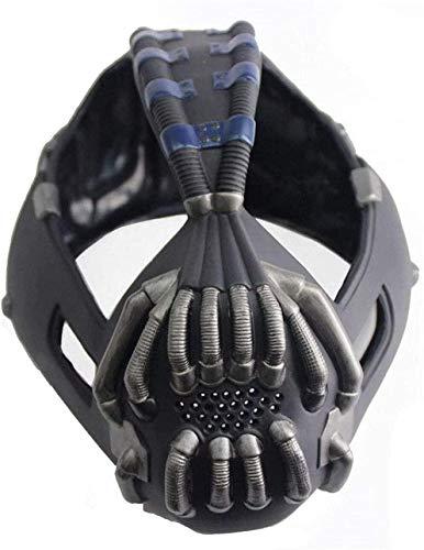 LIUQI Caballero oscuro del Batman de aumento Bane máscara casco réplica del traje de Cosplay máscara de látex versión para los hombres