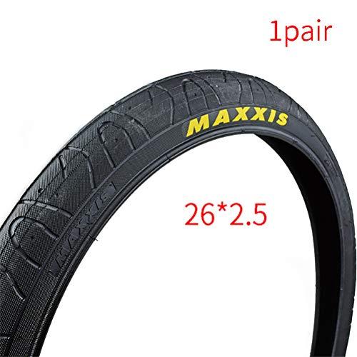 LOO LA Paire 26 * 2.5 Pouces Pneus pour VTT BMX Montagne Tout Terrain ou maxxis Hook Worm Tire VTT Montagne Hybrid Vélo Bicyclette