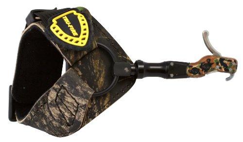 TruFire Hardcore Buckle Foldback Adjustable Archery Compound Bow Release - Camo Wrist Strap with Foldback Design