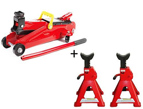 Altura de elevaci/ón: 35.8-40.5 cm Rojo Gato hidraulico 10T Poder hidr/áulico Kit de reparaci/ón Herramientas Gato Hidr/áulico para Coche Van SUV