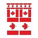 Generisch 10 Stück Flaggen Aufkleber Kanada Set   Sticker Canada Autoaufkleber