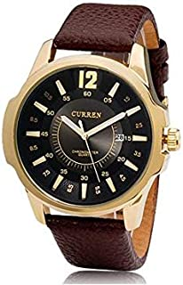 Curren Dress Watch For Men Analog Leather - 8123-gld