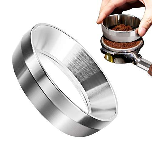 NXACETN 54 mm / 58 mm Espresso-Dosiertrichter, Kaffee-Dosierring Edelstahl Portafilter Dosiertrichter, kompatibel mit 58 mm oder 54 mm Portafilter für den Heimgebrauch 54mm