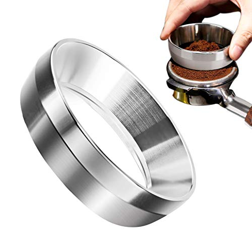 Espresso Coffee Dosing Funnel 54mm Coffee Dosing Ring Stainless Steel Replacement Funnel for Portafilter Filter Strong Compatibility for Coffee Lover Best Gift for Family Friends