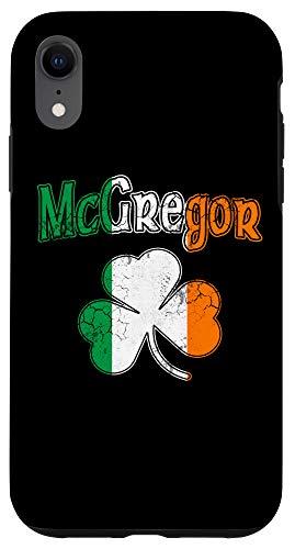 iPhone XR McGregor Irish Flag Shamrock St Patricks Day Vintage Fade Case