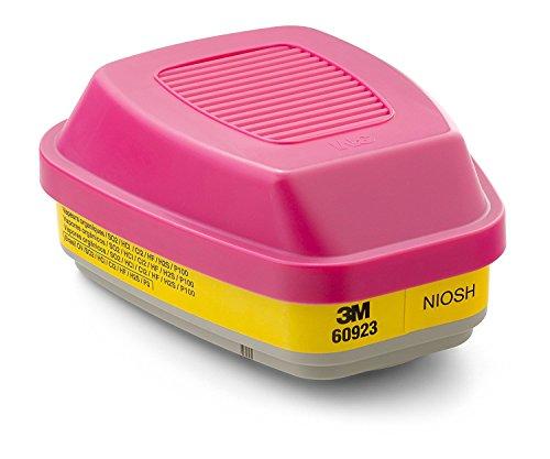 3M Organic Vapor/Acid Gas Cartridge/Filter 60923 P100 Respiratory Protection 10 Filters