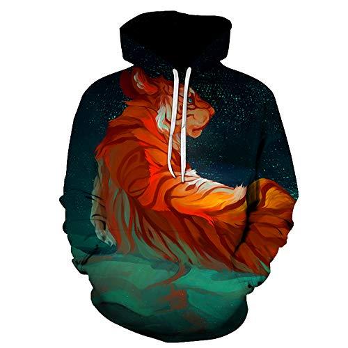 Blwz Unisex hoodies mannen vrouwen 3D gezellige tijgerprint pullover lange mouwen gebreide jas paar sweatshirts uniform pullover outdoor vrije tijd party