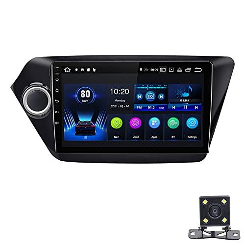 STTTBD 9'Android 10.0 2.5D Pantalla Táctil Radio Estéreo para Automóvil Navegación por Satélite, para Kia K2 2010-2015 Soporte Bluetooth WiFi GPS Reproductor Multimedia Autoradio(Color:WiFi 4G+64G)