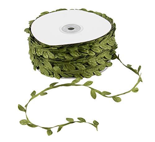 Guirnalda de hojas – 4 rollos de arpillera artificial para colgar en la pared, plantas verdes, cinta de vid, cuerda de vid para coronas, diadema, boda, hogar,...