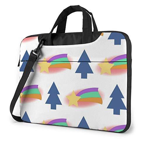 Weihnachtsbaum Regenbogen Muster Laptop Hülle Fall Computer Einkaufstasche Schulter Messenger Aktentasche für Geschäftsreisen