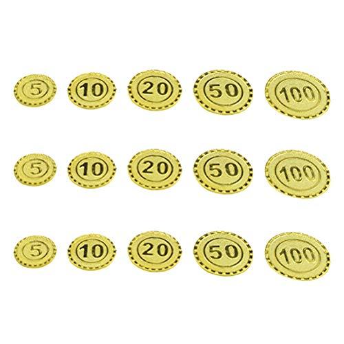 Toyvian 100 Piezas Monedas Piratas - Monedas de Juguete para nios - Dinero Falso de Juguete